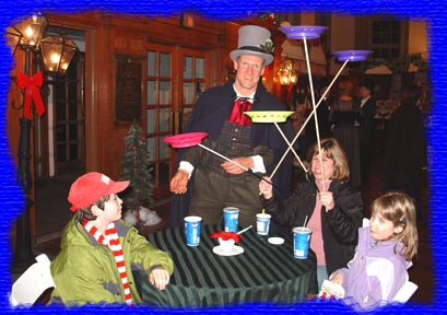 strolling magic entertainment mark dolson holiday magician