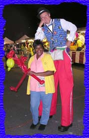 stilt walking carnival fairs mark dolson puppet shows magic magicians