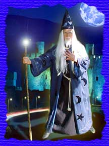 Mark A.S. Dolson as Wizard is great for theme parties mark dolson puppet shows magic magicians